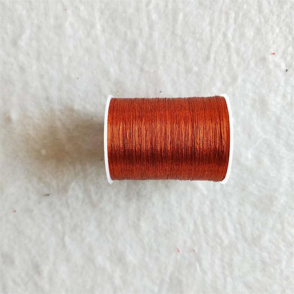 Металлическая нить для вышивки, аксессуары для одежды DIY, основные 15 видов цветов на выбор, нить для шитья, 1 шт - Цвет: antique brass
