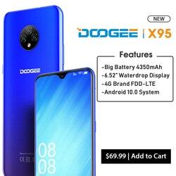 Перейти на Алиэкспресс и купить doogee x95 android 10 4g-lte cellphones 6.52дюйм. display mtk6737 16gb rom dual sim 13mp triple camera 4350mah battery 2020 ltephone