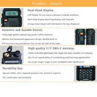 baofeng uv Baofeng UV5R מכשיר הקשר מקצועי CB רדיו תחנת Baofeng UV5R משדר 5W VHF UHF Portable UV 5R ציד חזיר רדיו (4)