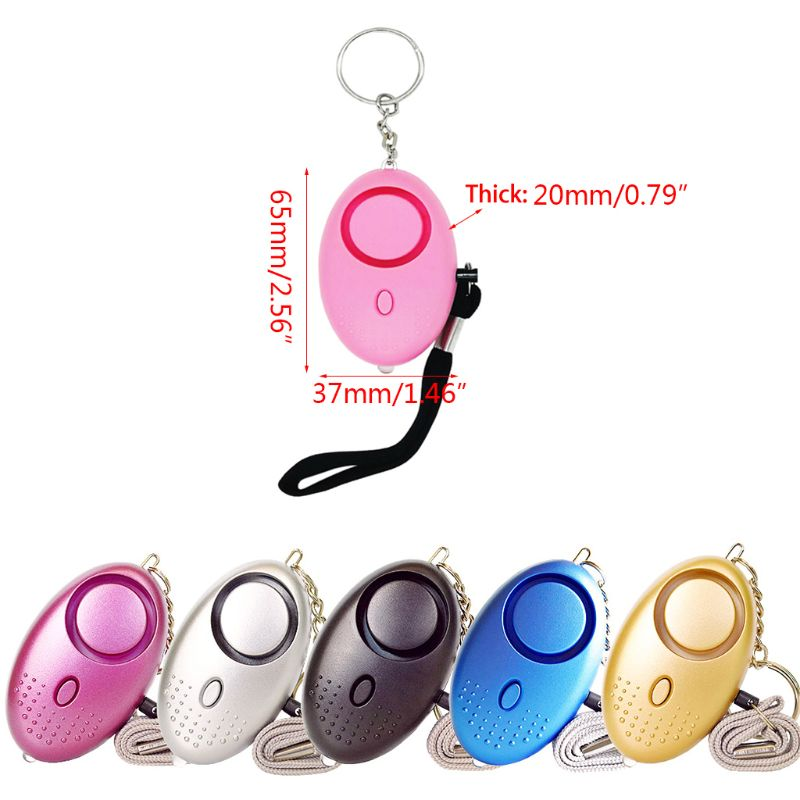 130dB 130dB Loud Sound Personal Defense Siren Anti-attack Security LED Alarm Keychain With Lanyard For Women Children Supplies