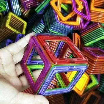 Big Size układanki magnetyczne trójkąt kwadratowe klocki klocki magnetyczne klocki dla dzieci prezenty dla dzieci tanie i dobre opinie skxnier Z tworzywa sztucznego SL018 20 30PCS 2-3Y 4-6Y 7-9Y 10-12Y magnetic designer Strong Magnet+Plastic Educational toys