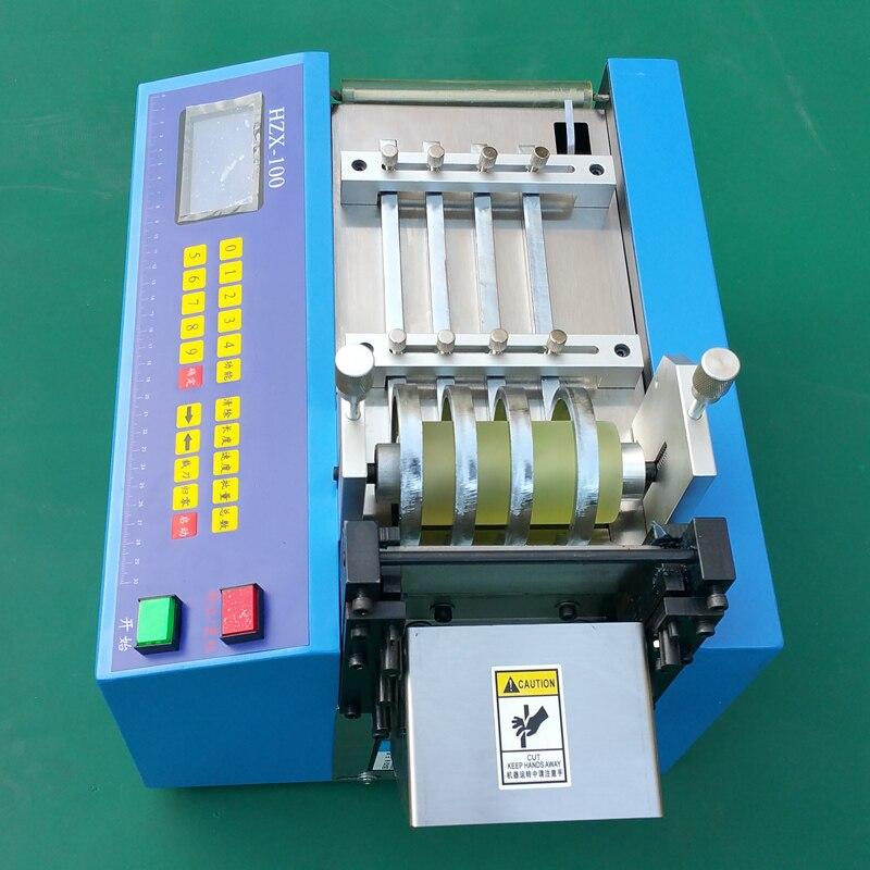 HZX 100 автоматическая термоусадочная трубка резак, Резиновая полоса, силиконовые трубы, ПВХ, ПУ, стекловолоконная трубка проволока веревка ма... - 3