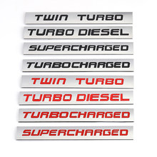 Etiqueta do carro twin turbo diesel supercharged turbocharged logotipo metal emblema emblema decalque para bmw audi honda toyota jeep ford nissan