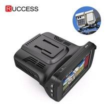 """Ruccess coche DVR 2,7 """"DVR 3 en 1 Detector de Radar con GPS ruso Speedcam Anti Radar 1080P HD completo grabador de coche Dash Camera"""