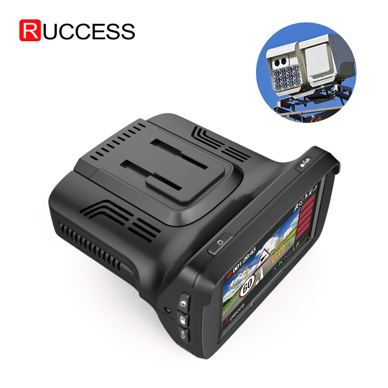 "Ruccess CAR DVRs 2.7"" DVR 3 in 1 Radar Detector with GPS for Russian Speedcam Anti Radar Full HD 1080P Car Recorder Dash Camera"