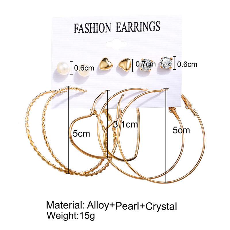 H1867c7bf2fc84d639e42f94999f686cbF - IF ME Fashion Vintage Gold Pearl Round Circle Drop Earrings Set For Women Girl Large Acrylic Tortoise shell Dangle Ear Jewelry