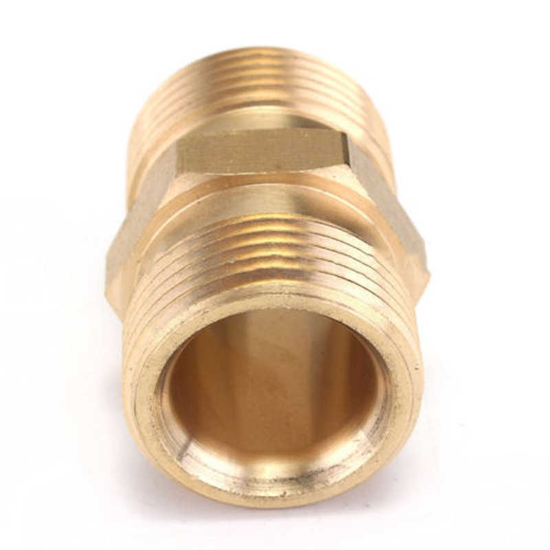 M22/14 Mm MALE M/M Adaptor Coupler Kekuatan Tekanan Mesin Cuci Pompa Air Hose