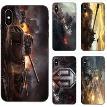 Casos de Silicone macio TPU Preto Cobre World Of Tanks Jogo Quente Vender Para Apple iPhone 4 4S 5 5S SE 7 8 Plus X XS 6 6S Max XR(China)