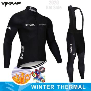 Inverno velo térmico 2020 strava ciclismo jérsei longo conjunto mtb roupas de ciclo roupas esportivas mountain bike ropa ciclismo 1
