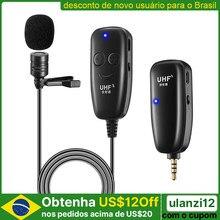Micrófono inalámbrico UHF Lavalier para grabación de vídeo, Youtube, entrevista en vivo, para iPhone, iPad, PC, Android, DSLR
