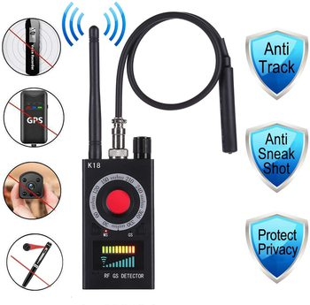 Anti Spy RF Detector Wireless Bug Detector Signal for Hidden Camera Laser Lens GSM Listening Device Finder Radar Radio Scanner new rf signal bug detector laser lens gsm device finder home security safety