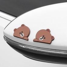 2 шт/компл автомобиля противоскользящая полоса медведь бурый