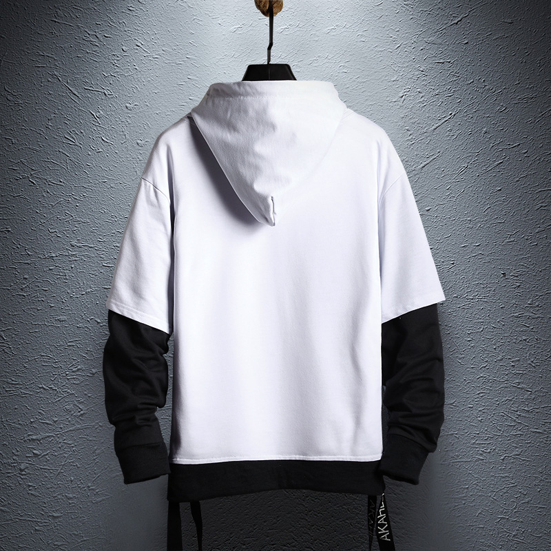 Hoodie Sweatshirt Mens Hip Hop Pullover Hoodies Streetwear Casual Fashion Clothes colorblock hoodie  cotton 3