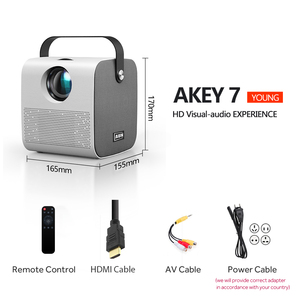 Image 5 - AUN MINI AKEY7 Young Projector, Native 1280*720P 2800 lumens, LED Proyector for Full HD 1080P, 3D Video Beamer Home Cinema.