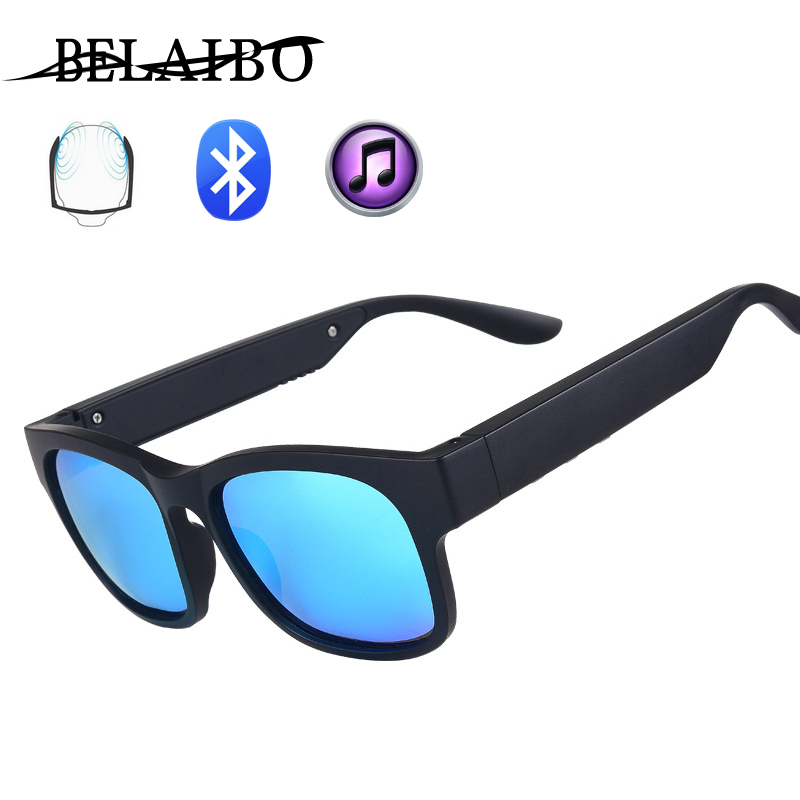 Night Vision Glasses Bone Conduction Bluetooth Smart Sport Headphone Sunglasses Bluetooth Driving Goggles Audio Headset Glasses