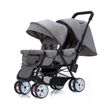 цена Twin Stroller Double Stroller Lightweight Folding Front and Rear Seats Can Sit and Lie Baby Stroller Double Twin Stroller онлайн в 2017 году