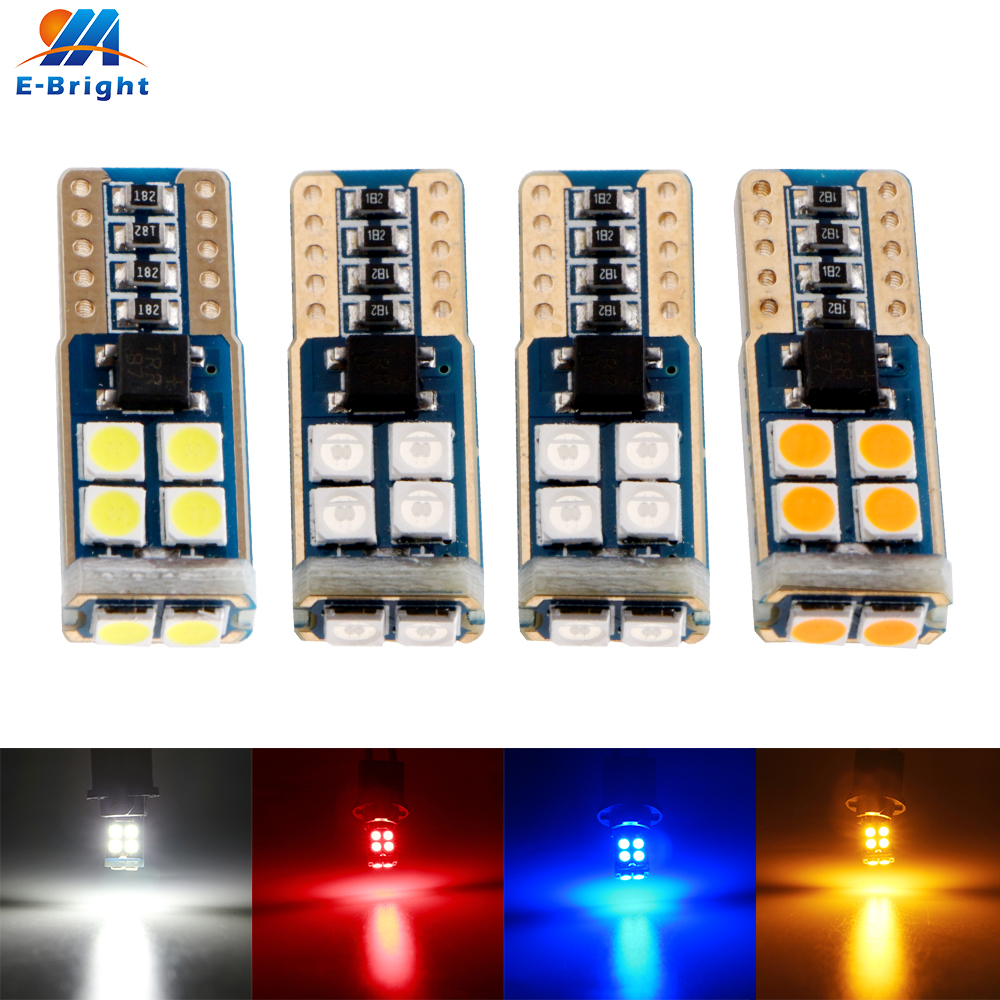 50pcs 9-16V <font><b>T10</b></font> Canbus 3030 <font><b>10</b></font> <font><b>SMD</b></font> 12V Led Bulb NO ERROR Turn Parking Door Signal Side Maker Indicator Light Auto Car Mix Colors image