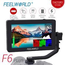 FEELWORLD F6 PLUS 5.5 cal 3D LUT ekran dotykowy 4 K HDMI monitora Full HD 1920x1080 IPS DSLR kamera monitor zewnętrzny do aparatów Nikon