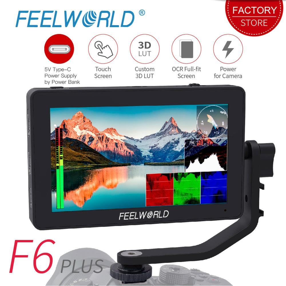 FEELWORLD F6 PLUS 5 5 inch 3D LUT Touch Screen 4K HDMI Monitor Full HD 1920x1080 IPS DSLR Camera Field Monitor for Cameras Nikon