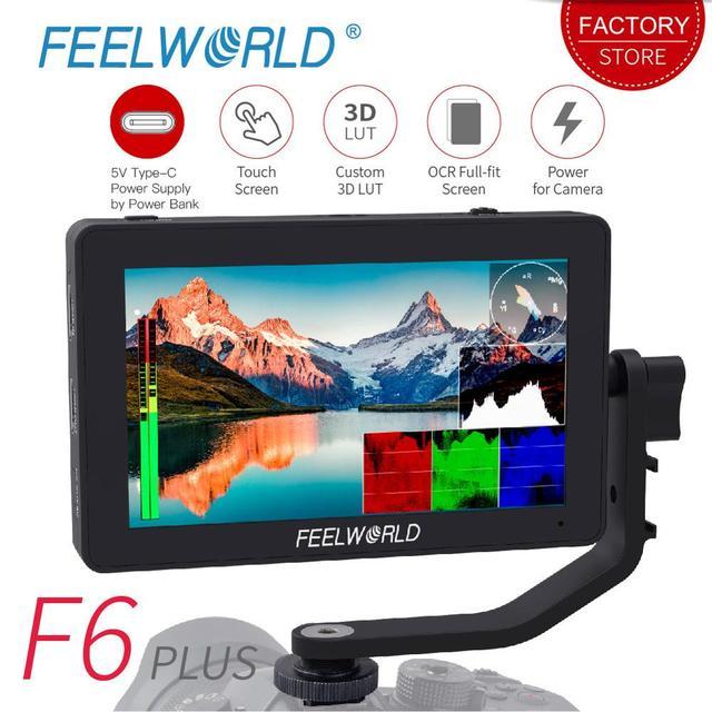 FEELWORLD F6 PLUS 5,5 pulgadas 3D LUT pantalla táctil 4 K HDMI Monitor Full HD 1920x1080 IPS Cámara campo monitor para cámaras Nikon