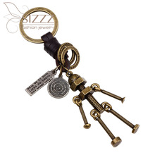 SIZZZ Европейская и американская мода автомобиль сплав древняя бронза брелок для женщин/мужчин