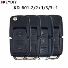 5pcs,KEYDIY KD900 B 시리즈 KD B01 2/2 + 1/3/3 + 1 버튼 VW KD X2 키 프로그래머 KDMINI 기계