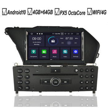 Android 10 Car DVD GPS Player For Mercedes Benz GLK-Class X204 GLK300 GLK350 Octa 8 Core 4GB+64GB Radio Stereo BT Wifi MAP DAB+ image