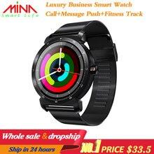 K88H Più Intelligente Della Vigilanza di HD Display Monitor di Frequenza Cardiaca Contapassi Inseguitore di Fitness Uomini Smartwatch Collegato Per Android IPhone
