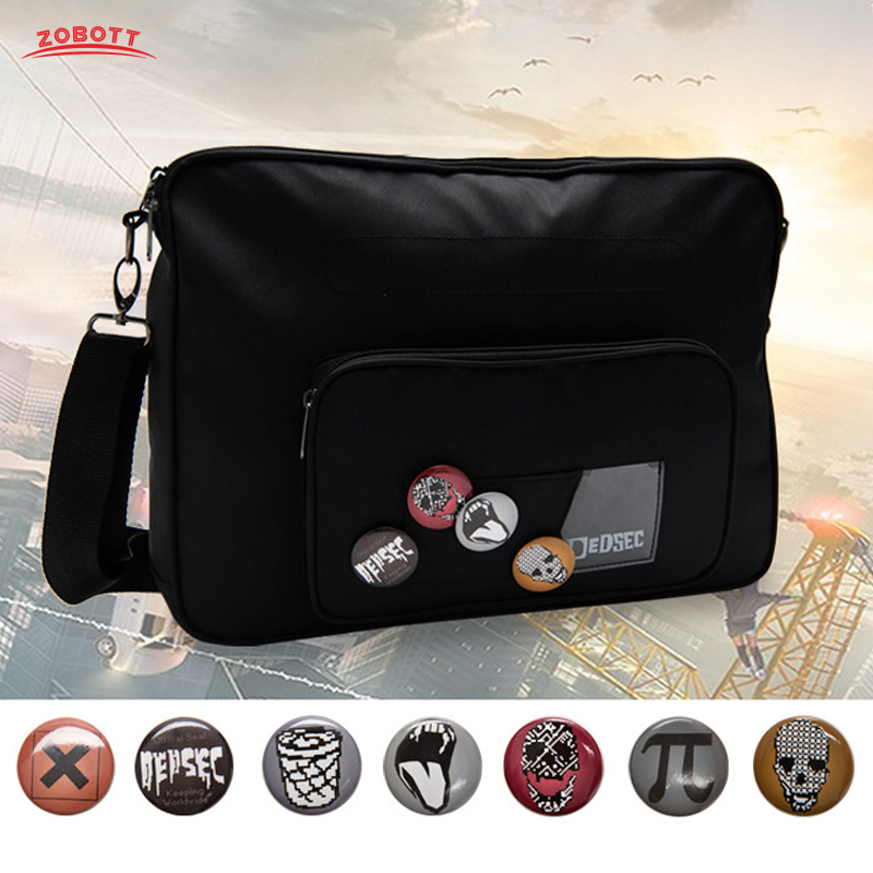 Game Watch Dogs 2 Marcus Holloway Cosplay Crossbody Bag For Adult Unisex Watch Dog Cosplay Costume Bags With Free Accessories