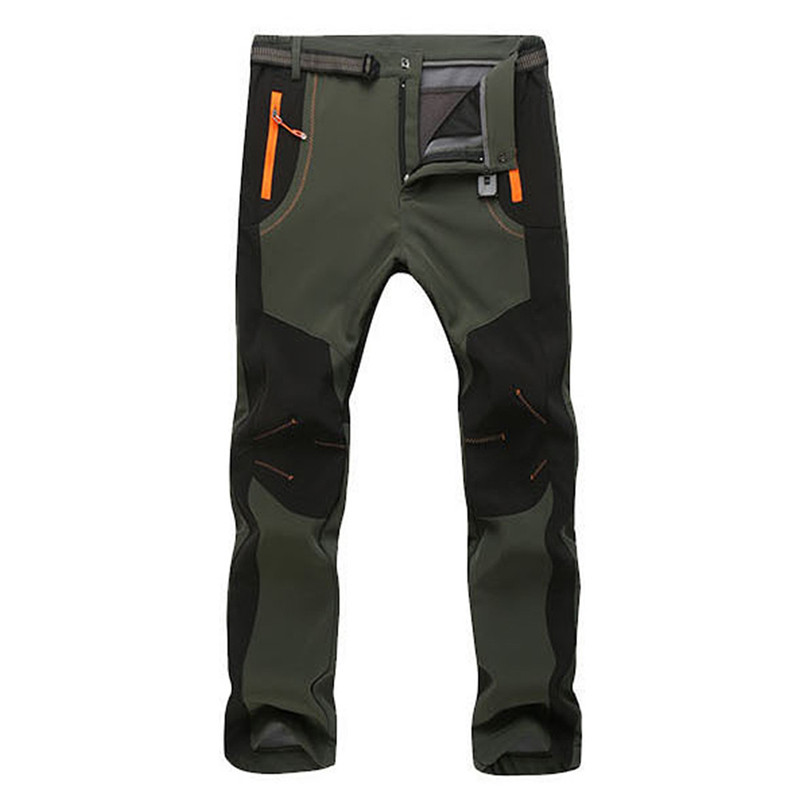 Men s Warm Winter Pants Men Fleece Lining Cargo Pants Mens Waterproof Trousers Male Stretch Casual Innrech Market.com