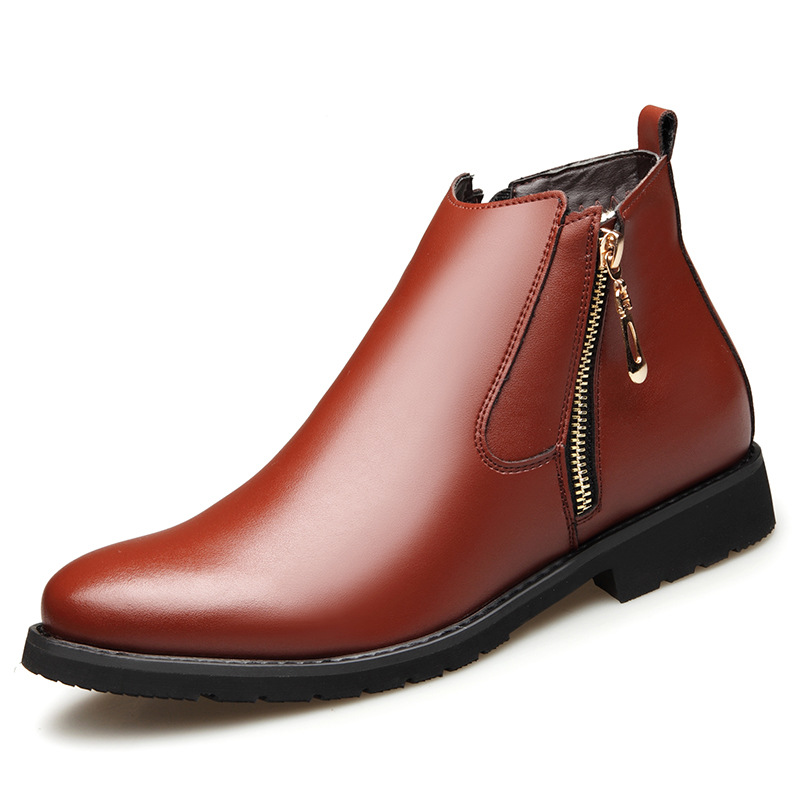 Fashion Men's Chelsea Boots Male Ankle Shoes Luxurious Brand Leather Men Boots Dress Shoes Party Wedding Casual Flats Tyh6