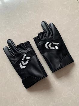 Daiwa czarne PU rękawice wędkarskie s dla mężczyzn ochrona przeciwsłoneczna zimowe męskie wodoodporne rękawice wędkarskie specjalne wędkarskie wędkarskie rękawiczki rybackie tanie i dobre opinie tuohai10018p Trwałe Trzy Wyciąć Palec