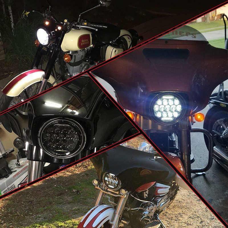 """7 inch LED Motorrad Scheinwerfer für Harley Davidson Scheinwerfer wiht blinker Licht Engel Augen 7 """"auch Für Yamaha honda motor"""