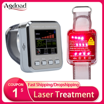 650nm Laser Physiotherapy Wrist Watch 7/12 Hole Semiconductor Nano Laser Therapy Instrument for Diabetes Hypertension Sinusitis 1