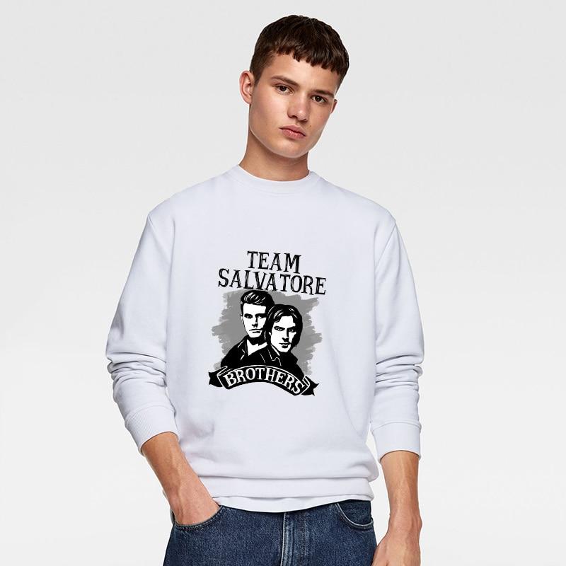 The Vampire Diaries Printed Harajuku O-neck Streetwear Sweatshirts Autumn O Neck Hoodies For Men Boys Round Collar Pullovers