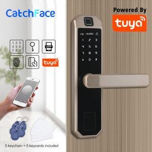 Image 3 - Электронный Bluetooth код блокировки дверей, карта, сенсорный экран, цифровой пароль, WIFI смарт замок с приложением Tuya Smart