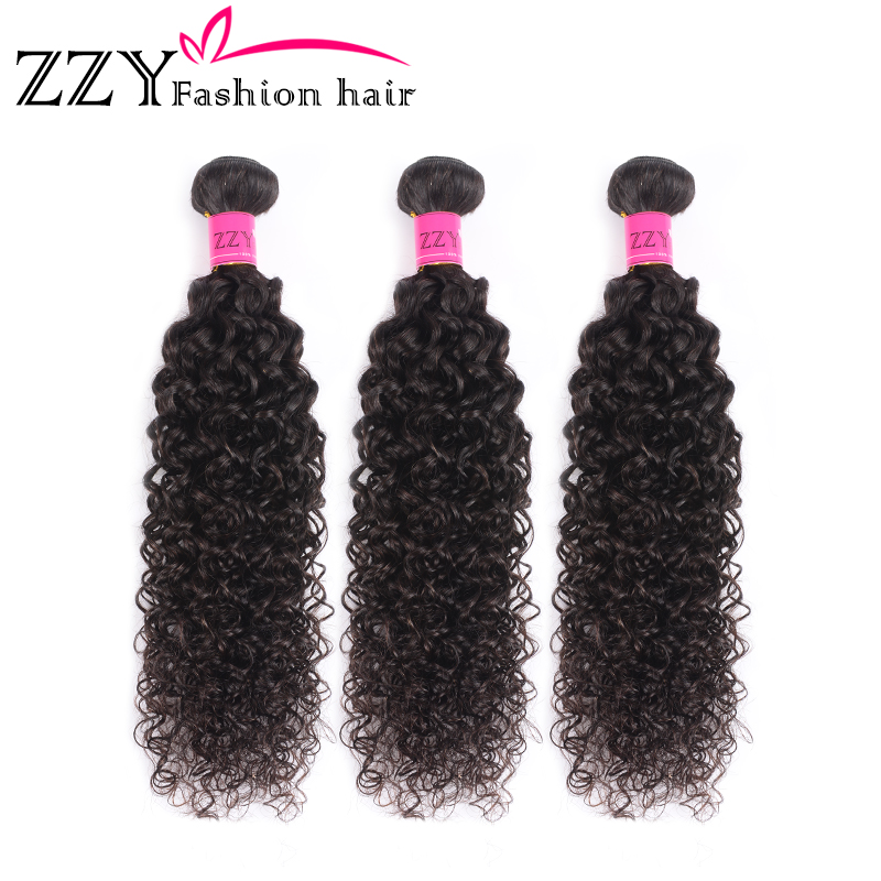 ZZY Fashion Hair Mongolian Kinky Curly Hair Bundles Non-remy Human Hair Weave Extensions 8-26 Inch