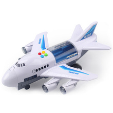 Музыкальная история симулятор трек инерции детская игрушка самолет большой размер пассажирский самолет дети Авиалайнер Игрушка автомобиль