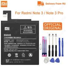Xiao Mi الأصلي BM46 بطارية حقيقية 4000mAh ل شاومي Redmi نوت 3/نوت 3 برو استبدال بطاريات الهاتف أدوات مجانية