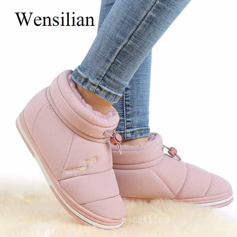 Kadın yarım çizmeler sıcak kar botları kış ayakkabı kadın şeker renk kürk ayakkabı bayanlar platform ayakkabılar Botines Mujer 2020 Invierno