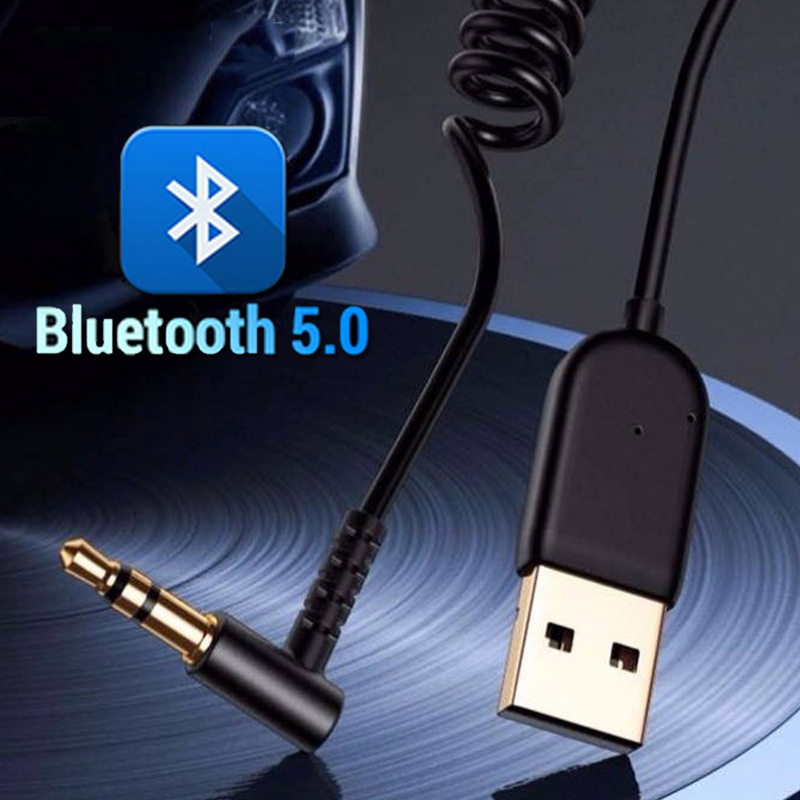 USB Bluetooth Adapter Dongle Cable For Car 3.5mm Jack Aux Bluetooth 5.0 Receiver Speaker Audio Music Transmitter For Earphones