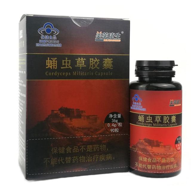 Reishi Ganoderma Lucidum Mushroom and Cordyceps Sinensis Extracts Capsules for Energy Support Improve Health Immune System 1