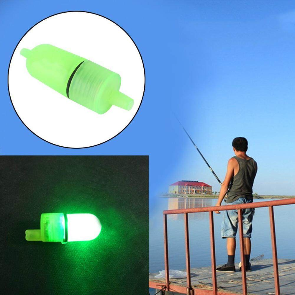 LED Fishing Light Underwater Night Fishing Light Twin Bells Bite Ring Fish Bait Alarm Luminous Light Fish Night Fishing Light