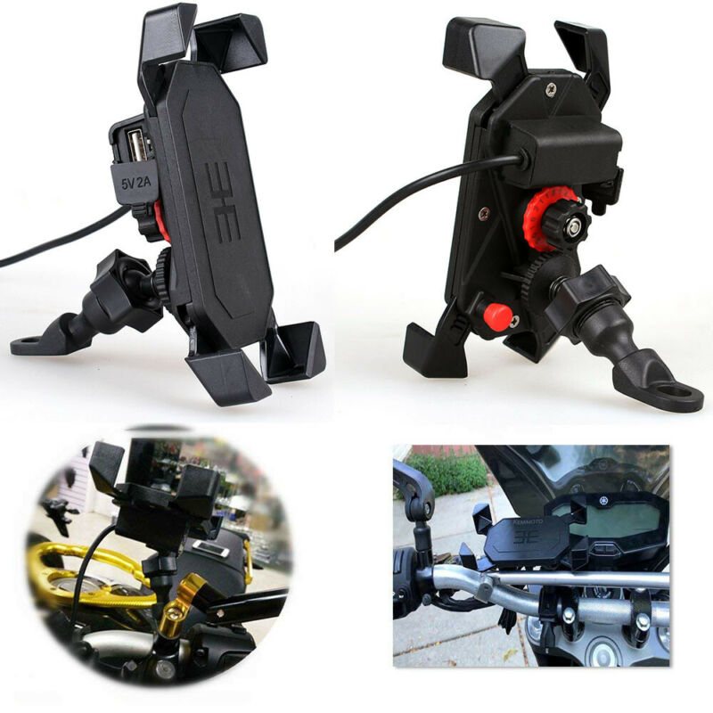 Cell Phone GPS Bicycle Phone Holder Motorcycle Handlebar Cell Phone Mount Holder With USB Charger For Smartphone VHE Hot Sale