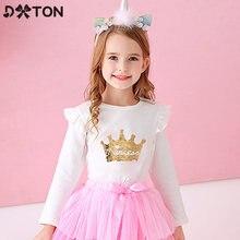 Dxton/Детские футболки с длинными рукавами; Зимние топы для