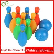 12 Stks/set 3 Maat 12/15/18Cm Ouder-kind Speelgoed Plastic Bowling Speelgoed Educatief Speelgoed Grappige kinderen Spelletjes Kids Speelgoed Sport Zxh