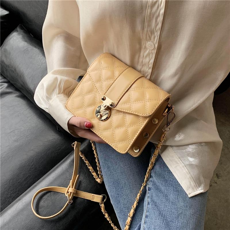 Women Leather Pu Quilted Bag Female Luxury Handbags Women Bags Designer Sac A Main Femme Fashion Shoulder Bag Travel Bags