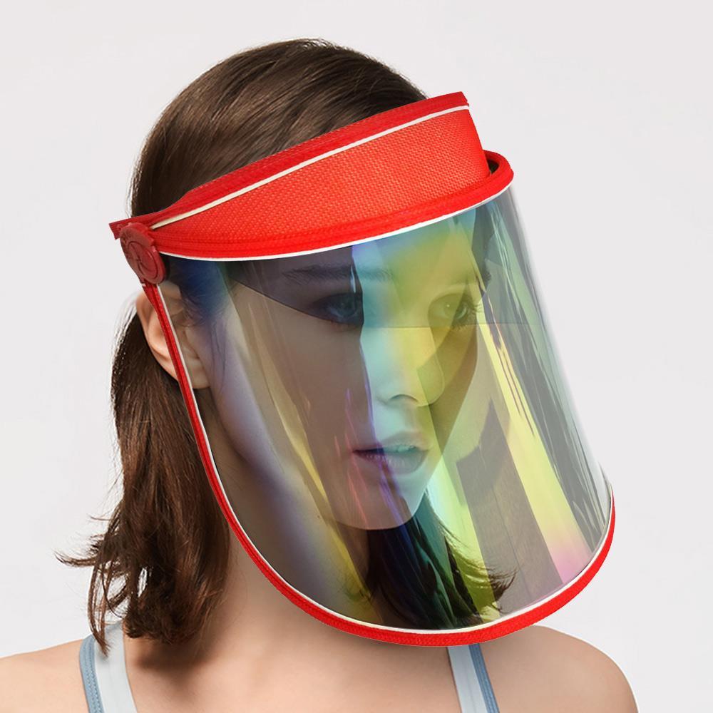 Anti-UV FaceShield Sport Cap Summer Women Sun Visor Cap Outdoor Cycling Hat Safety Protection Visor Shield Anti-uv Lens Hat