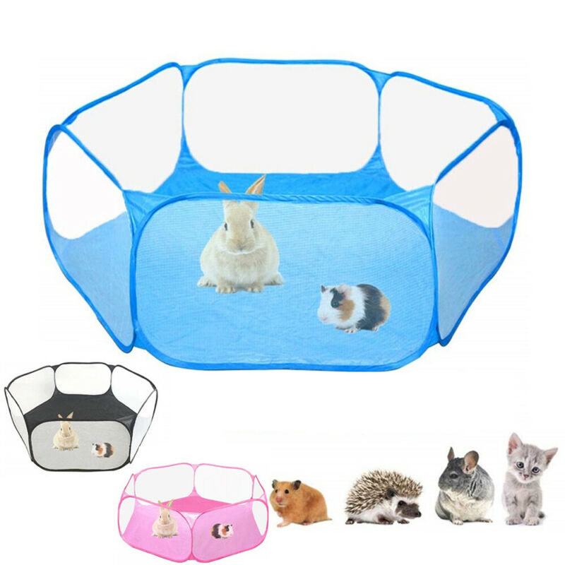 Portable Pet Cat Dog Cage Tent Playpen Folding Fence For Hamster Hedgehog Small Animals Breathable Puppy Cat Rabbit Guinea Pig