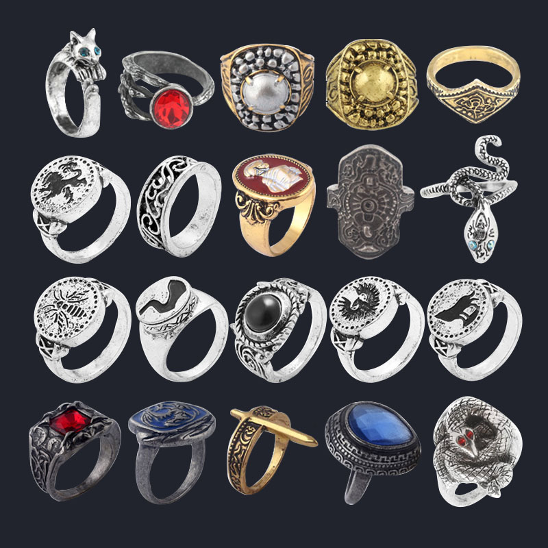 Game Dark Souls Series Men Rings Havel's Demon's Scar Chloranthy Badge Metal Ring Male Fans Cosplay Jewelry Accessories